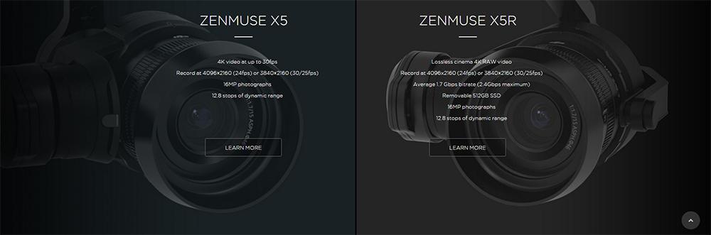 ZENMUSE X5 si X5R