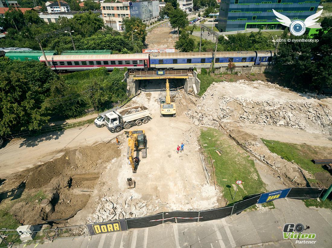 Imagini de la lucrarile de modernizare la pasajul Jiul Timisoara